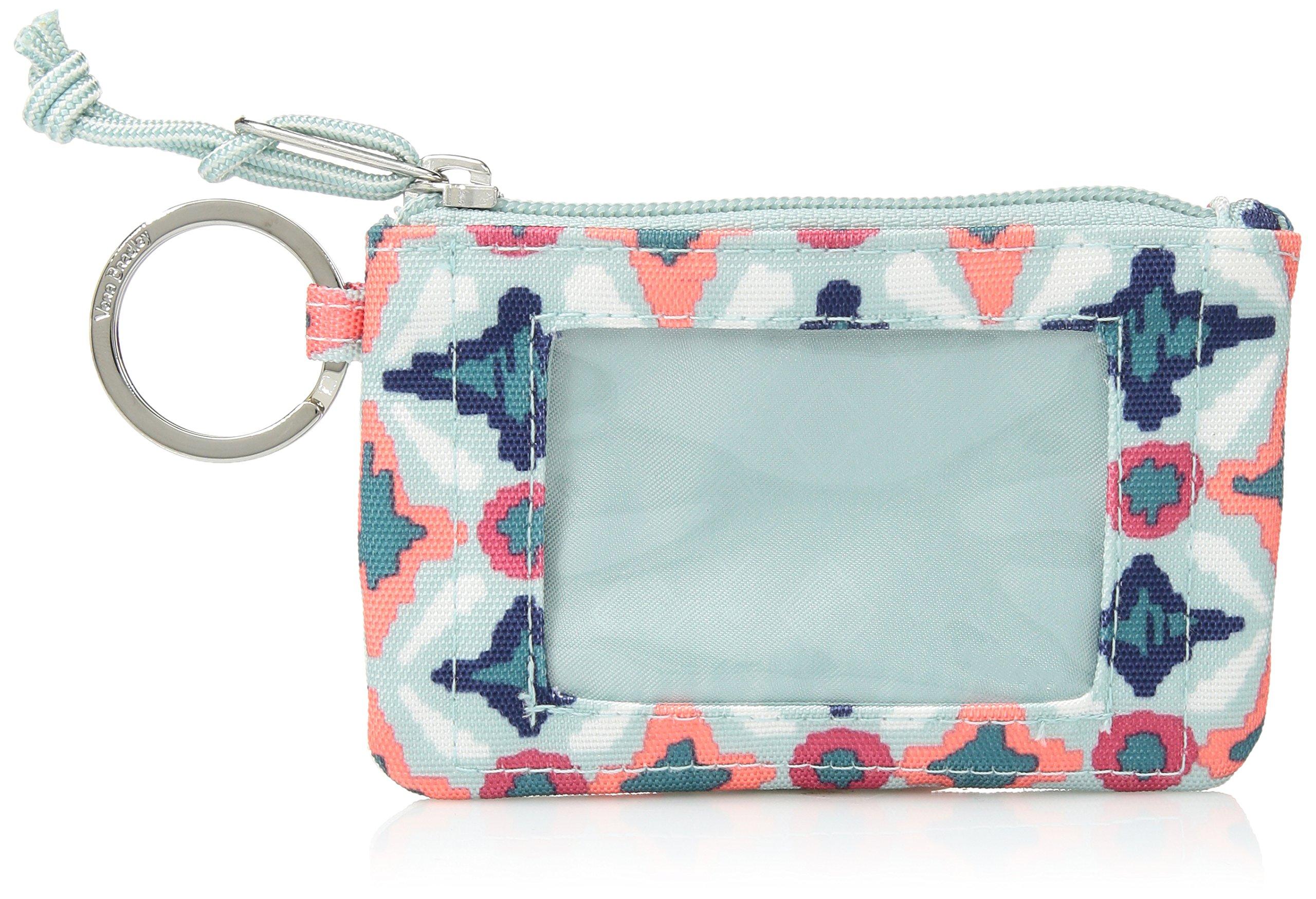 Vera Bradley Lighten Up Zip ID Case, Polyester, Water geo