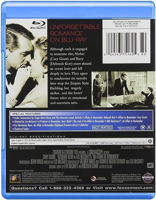 An Affair To Remember Blu Ray Cary Grant Deborah Kerr Cathleen Nesbitt Richard Denning Neva Patterson Leo Mccarey Movies Tv