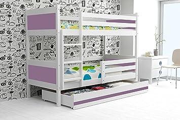 Etagenbett Mit Lattenrost Günstig : Bms group etagenbett rino 190 x 90 weiß farben mdf mit lattenrost