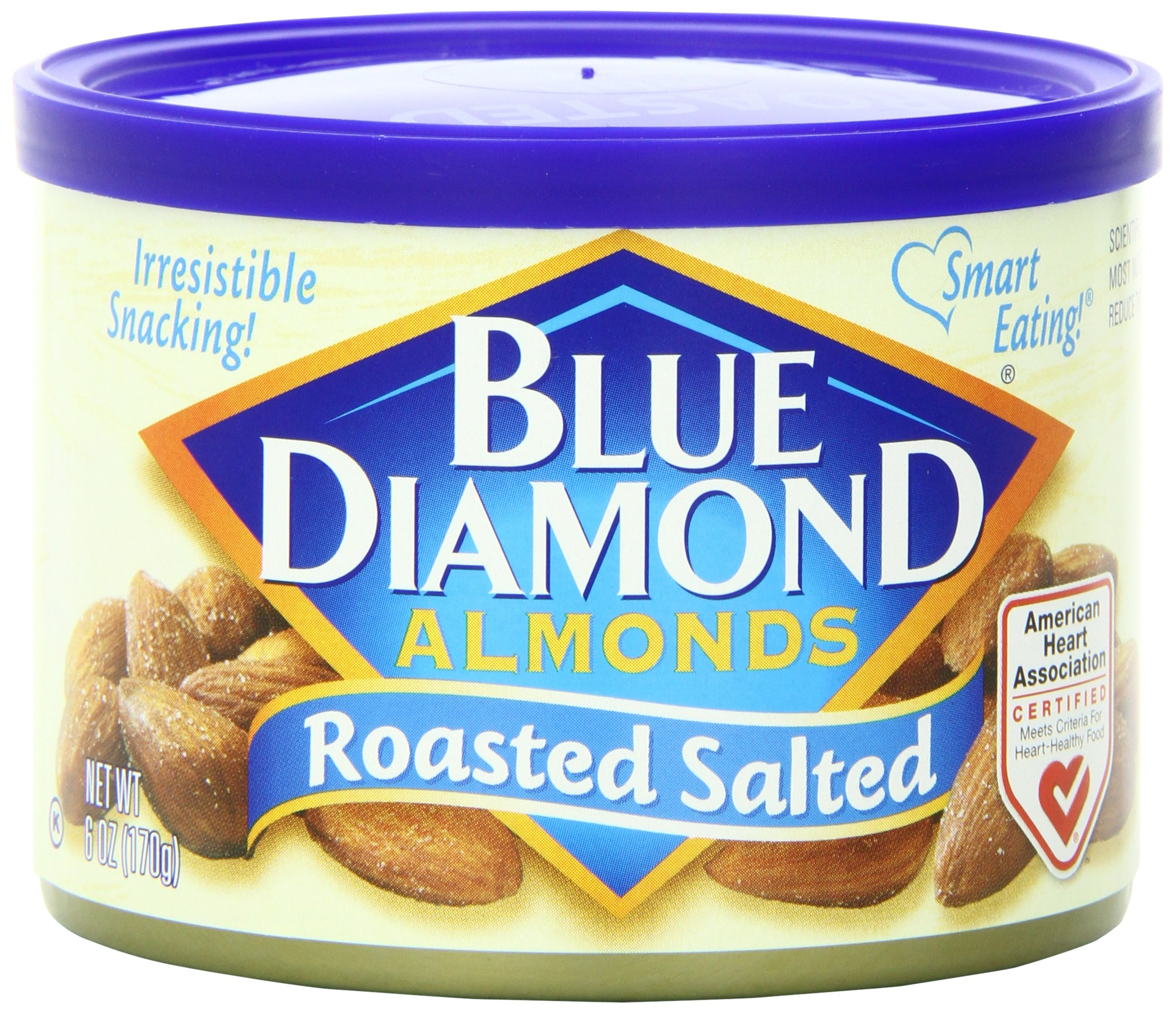 Blue Diamond Almonds, Roasted Salted, 6 Ounce (Pack of 12) by Blue Diamond Almonds (Image #1)