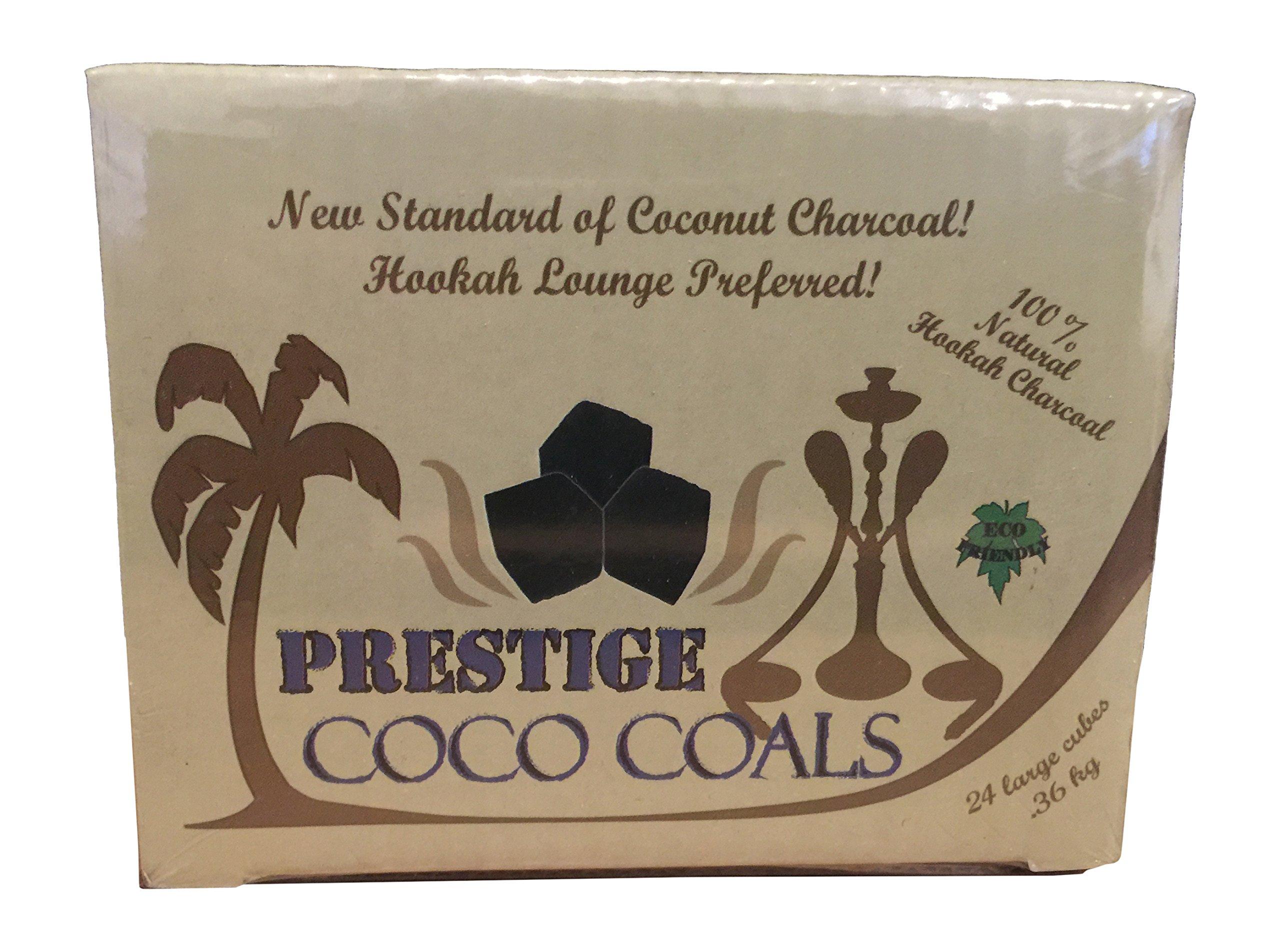 Prestige Coco Coals Hookah Charcoal, Coconut 24pc