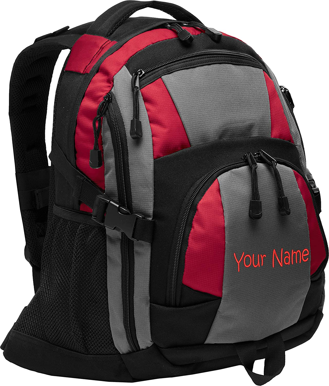 Personalized Black//Magnet Grey//Black Urban Backpack with Embroidered Name