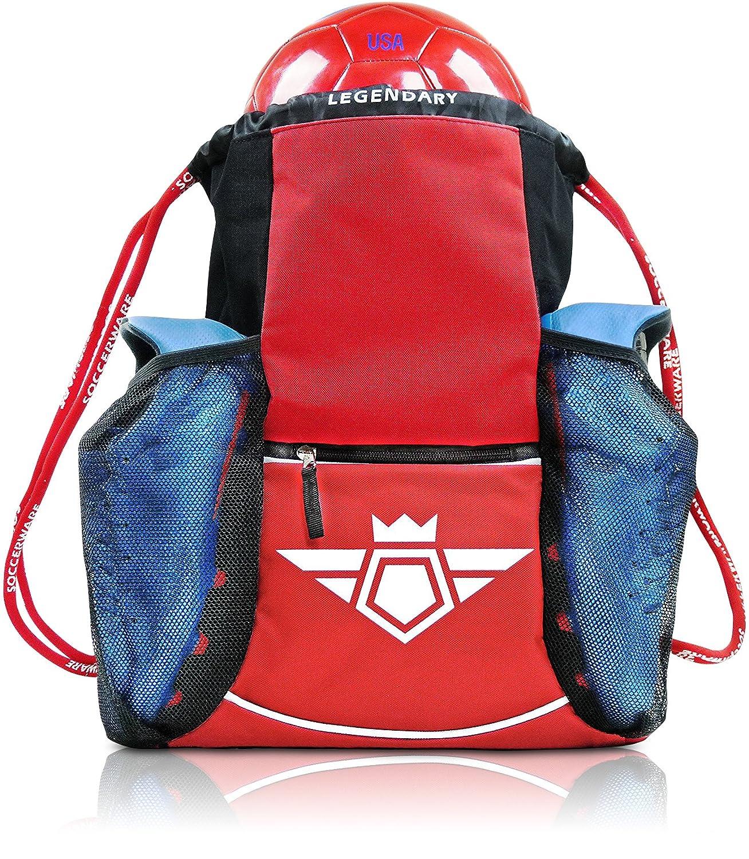 Soccer Bag Backpack - Organize Sports Gym Equipment - Boys Girls