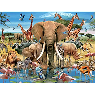 Howard Robinson - Africana Puzzle - 1500 Pieces: Toys & Games