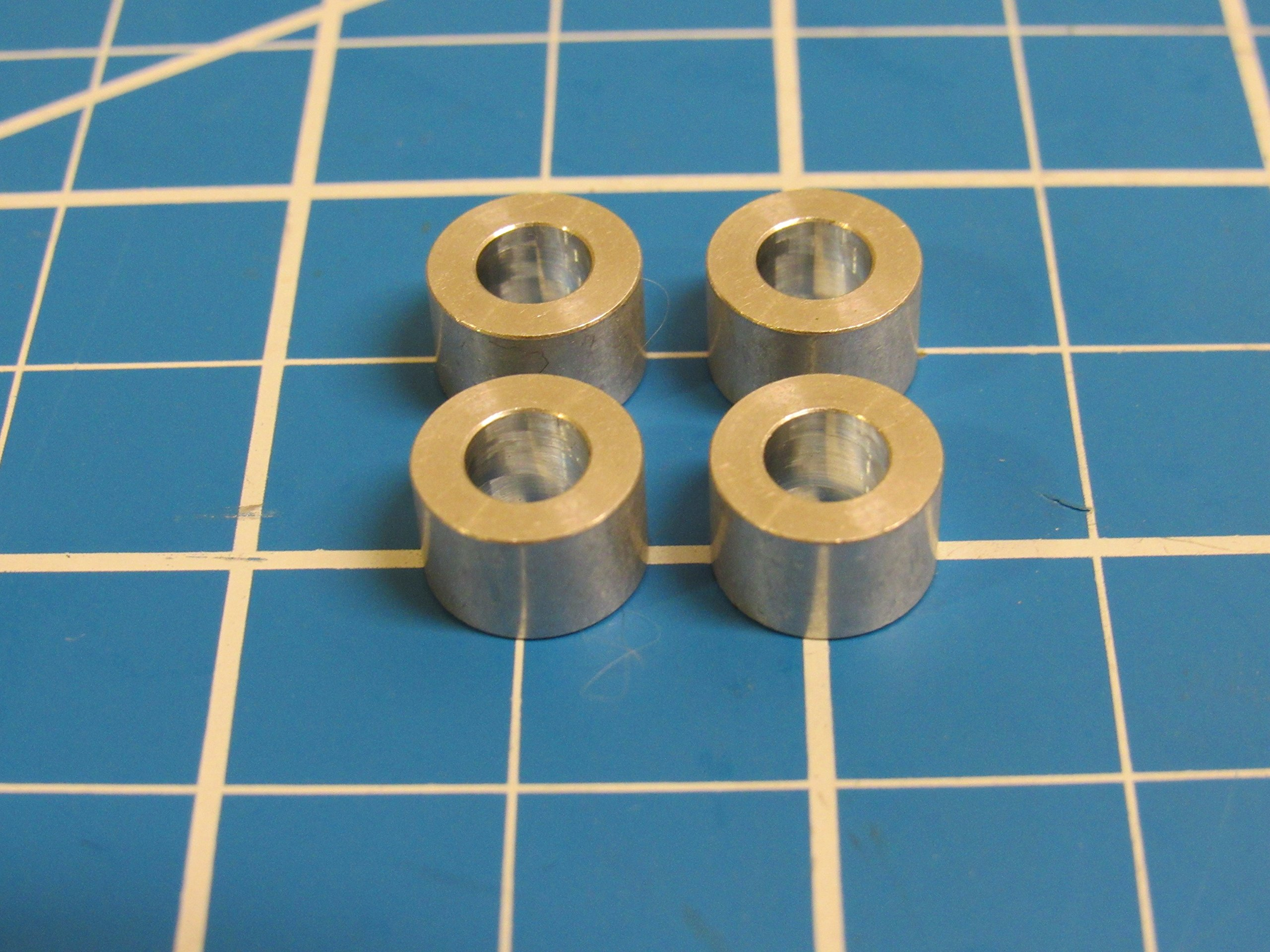 Aluminum Spacer M5, 1/4in Long, 5.1mm ID x 10mm OD x 6.35mm L (50 Pack)