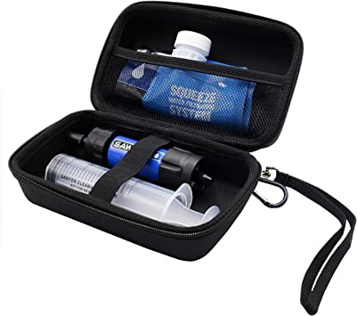 ProCase Estuche de Viaje para Sawyer Mini Filtro de Agua, Funda Rígida EVA Antigolpes para Purificador de Aguas ...