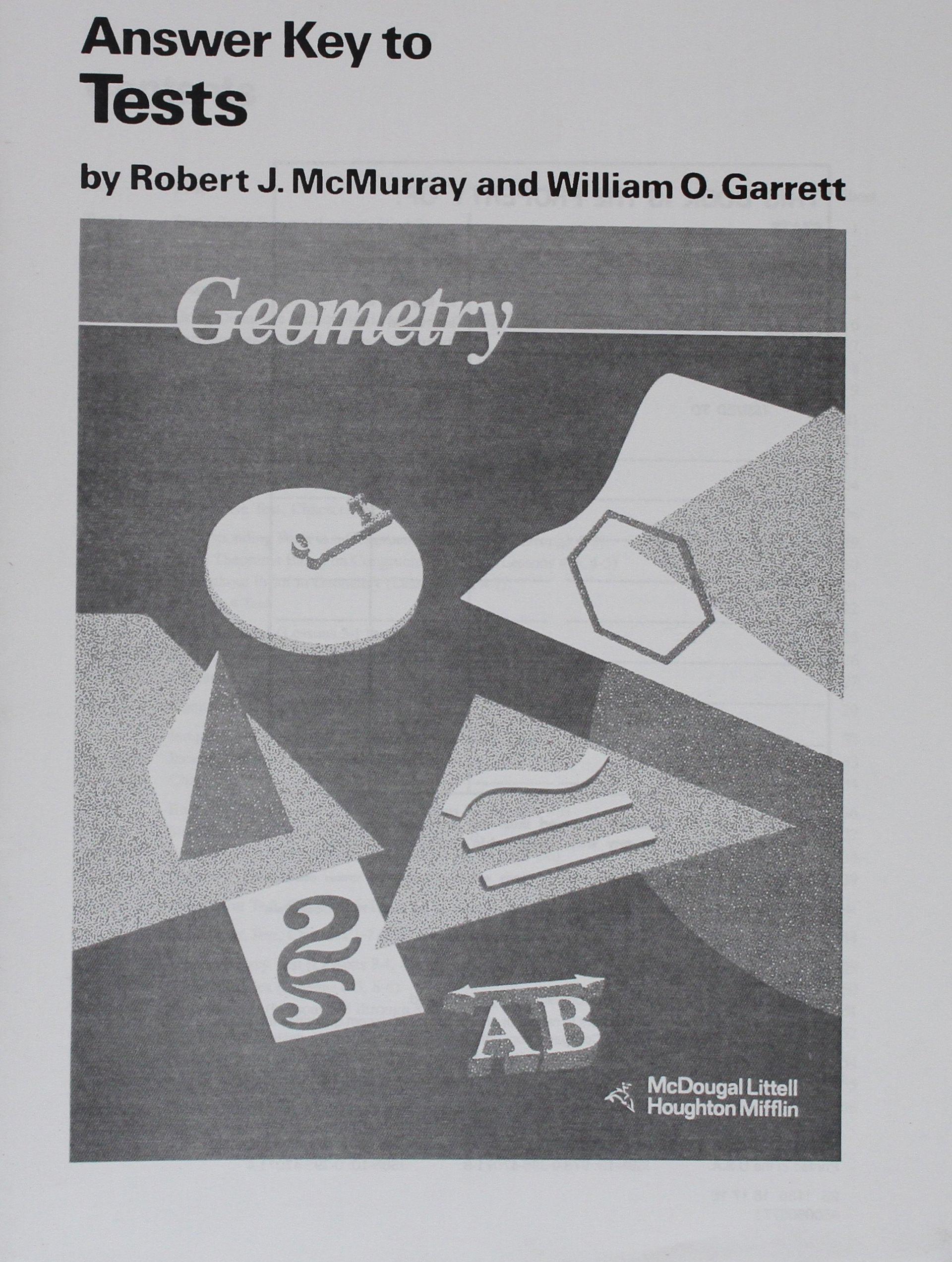 Amazon geometry answer key tests 9780395470718 robert j amazon geometry answer key tests 9780395470718 robert j mcmurray books fandeluxe Choice Image