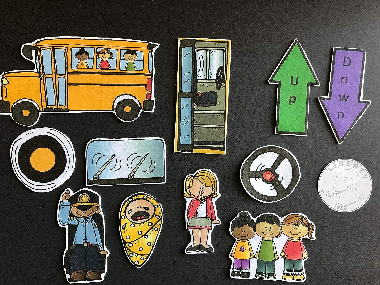 Wheels on the Bus Felt Story Pieces #50
