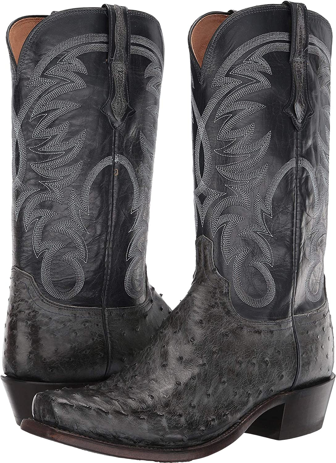 7bf7e30008a Amazon.com | Lucchese Men's Hugo Full Quill Ostrich Western Boot ...
