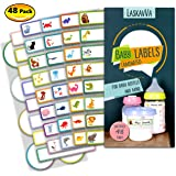 Baby Bottle Labels for Daycare - Kids Adhesive Name Tags - Personalized Labels - Dishwasher Safe - Waterproof - Self-Laminating Stickers