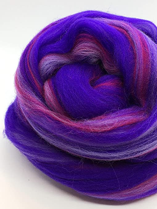 Spruce Green Wool Top Roving Fiber Spinning Felting Crafts USA 1oz