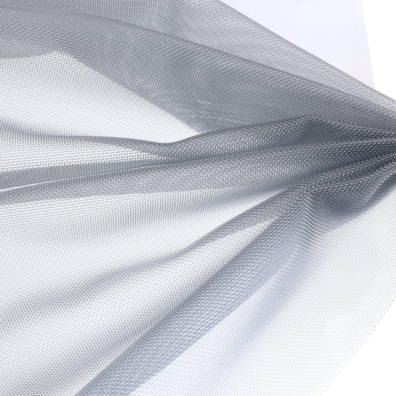 NBK ナイロンチュール ハード 巾95cm×4m切売カット グレー L1100-GY 4M  B07FQQ9J7B