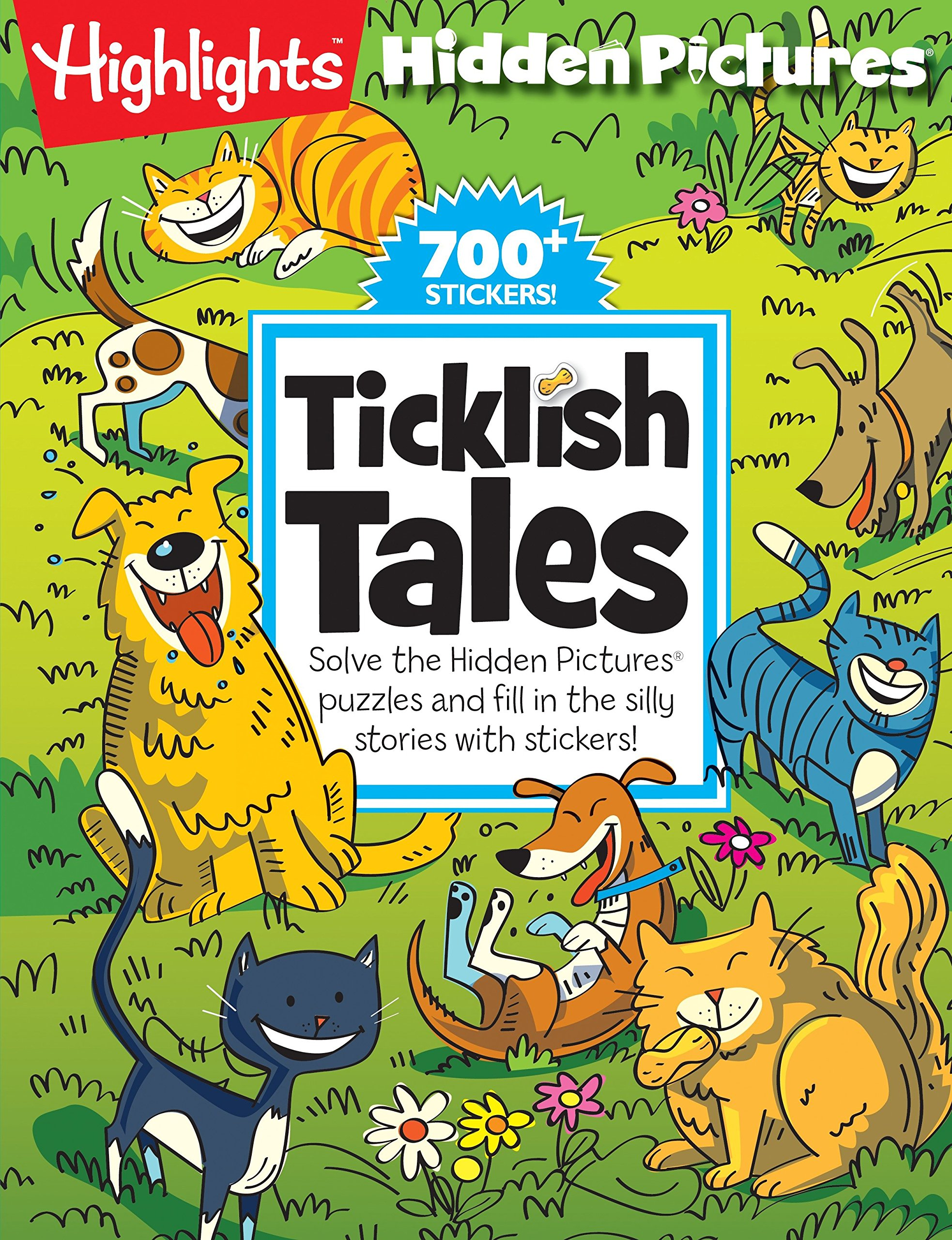 Read Online Ticklish Tales: Solve the Hidden Pictures® puzzles and fill in the silly stories with stickers! (Highlights™ Hidden Pictures® Silly Sticker Stories™) pdf epub