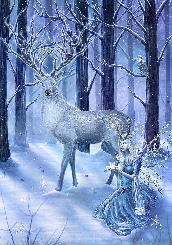 Winter Guardians Anne Stokes Yule Christmas Greetings Card