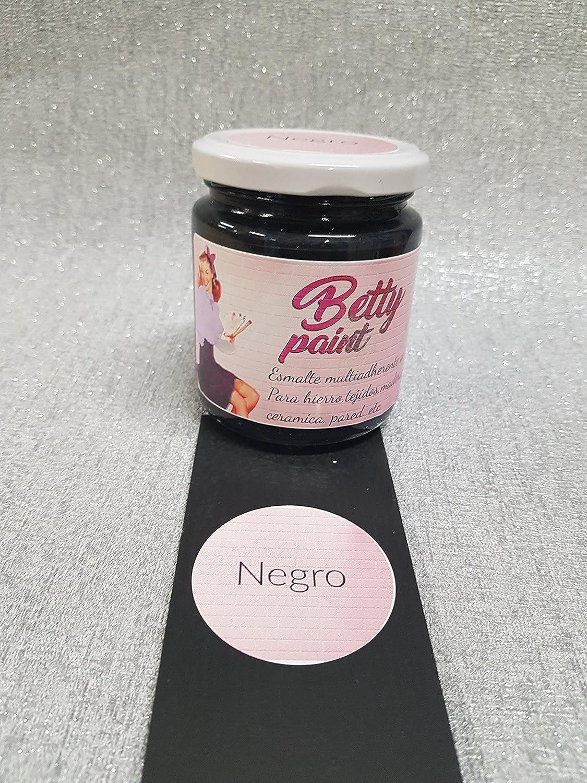 Betty Paint, vernis multiadherente, noir mat, à l'eau, 250ml à l'eau 250ml DECORACIONES ALDEGUER Y CANO
