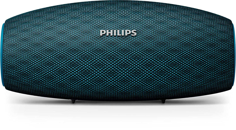 Philips Everplay BT6900A - Altavoz Bluetooth (Potente y portátil de pie, Resistente al Agua, con micrófono, Correa USB) Color Azul