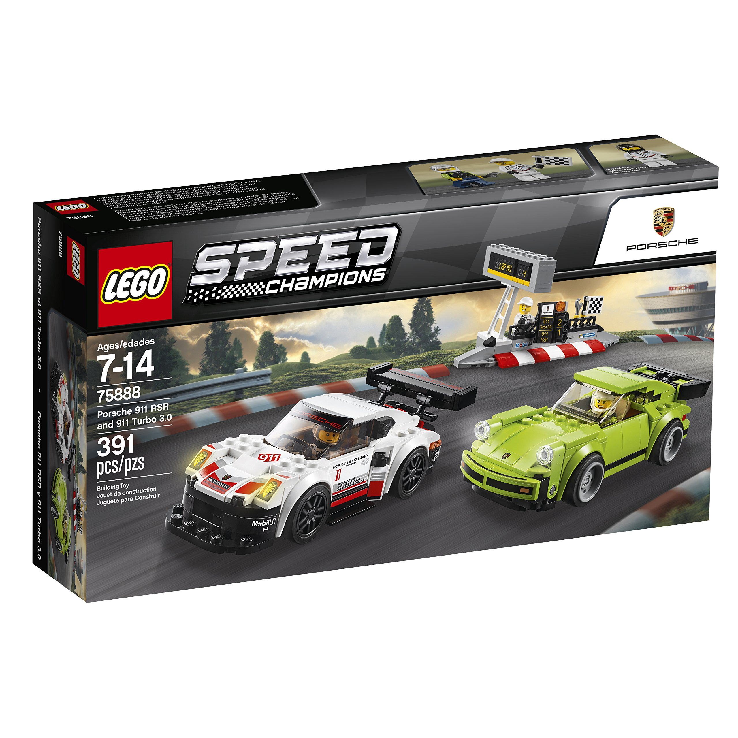 LEGO Speed Champions Porsche 911 RSR and 911 Turbo 3.0 75888 Building Kit (391 Piece) by LEGO (Image #8)