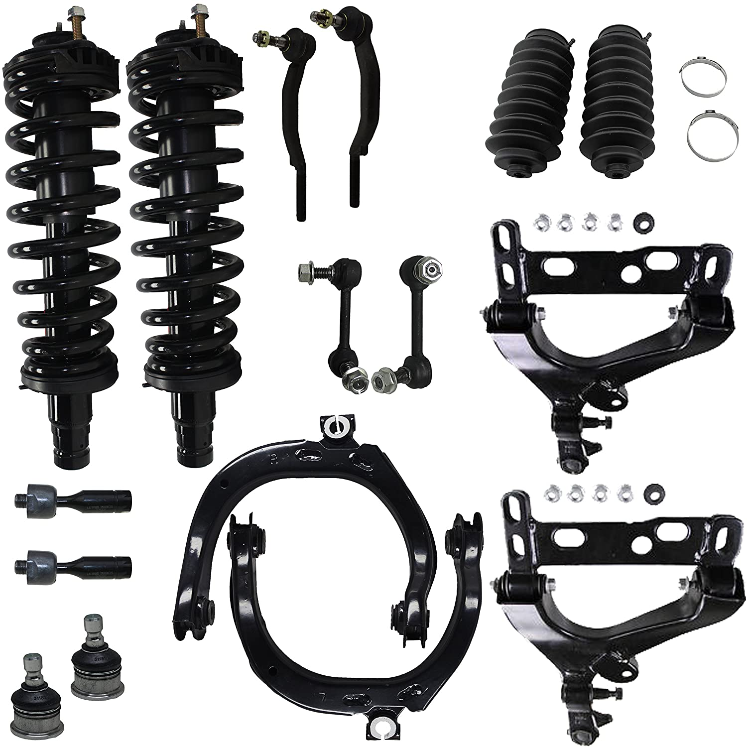Front Rear Struts and Springs Shock Kit for 2000 2001 2002 2003 2004 2005 Hyundai Sonata Detroit Axle