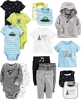 Carter S Juego De 15 Prendas Esenciales Básicas Para Bebés Varón Clothing