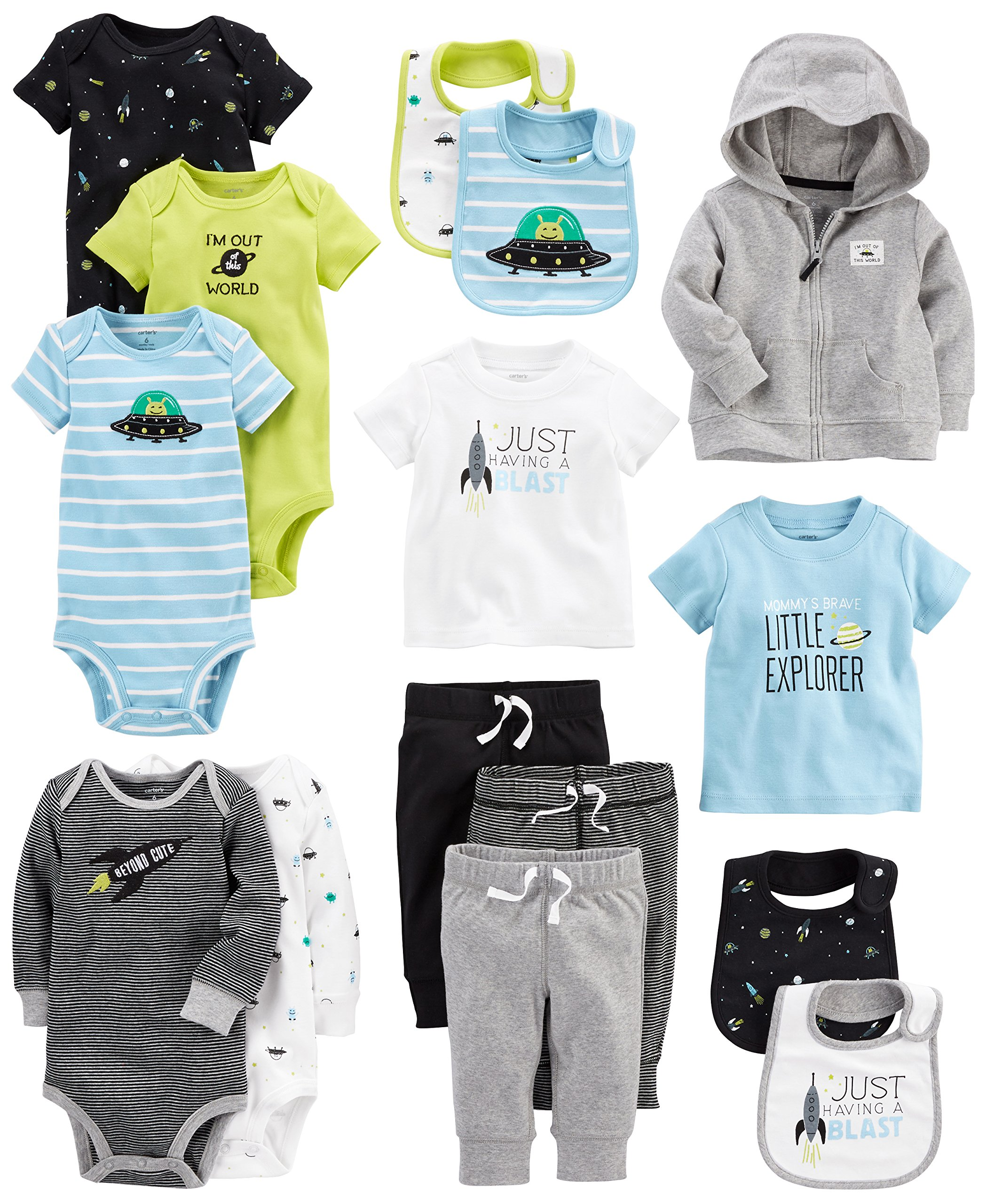 Carter's Baby Boys' 15-Piece Basic Essentials Set, Space, 9 Months by Carter's