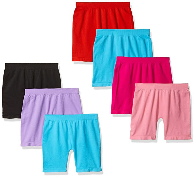 684156943e830 Image Unavailable. Image not available for. Color: Girls' 6 Pack Seamless  Solid Color Short Leggings (M)