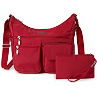 Baggallini Everywhere Lightweight Crossbody Bag - Multi-Pocketed, Spacious Water-Resistant Travel Purse with RFID…