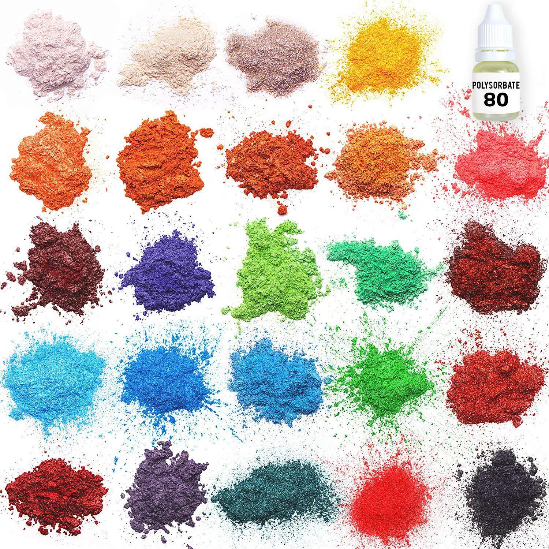 Amazon.com: Mica powder - Soap Making Kit - Powdered Pigments Set ...