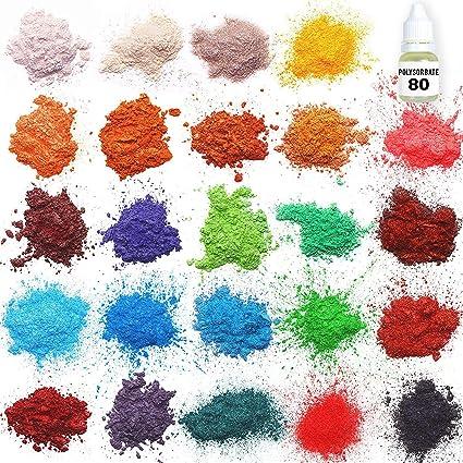 Amazon.com: Mica powder – Soap Making Kit – Powdered Pigments Set ...