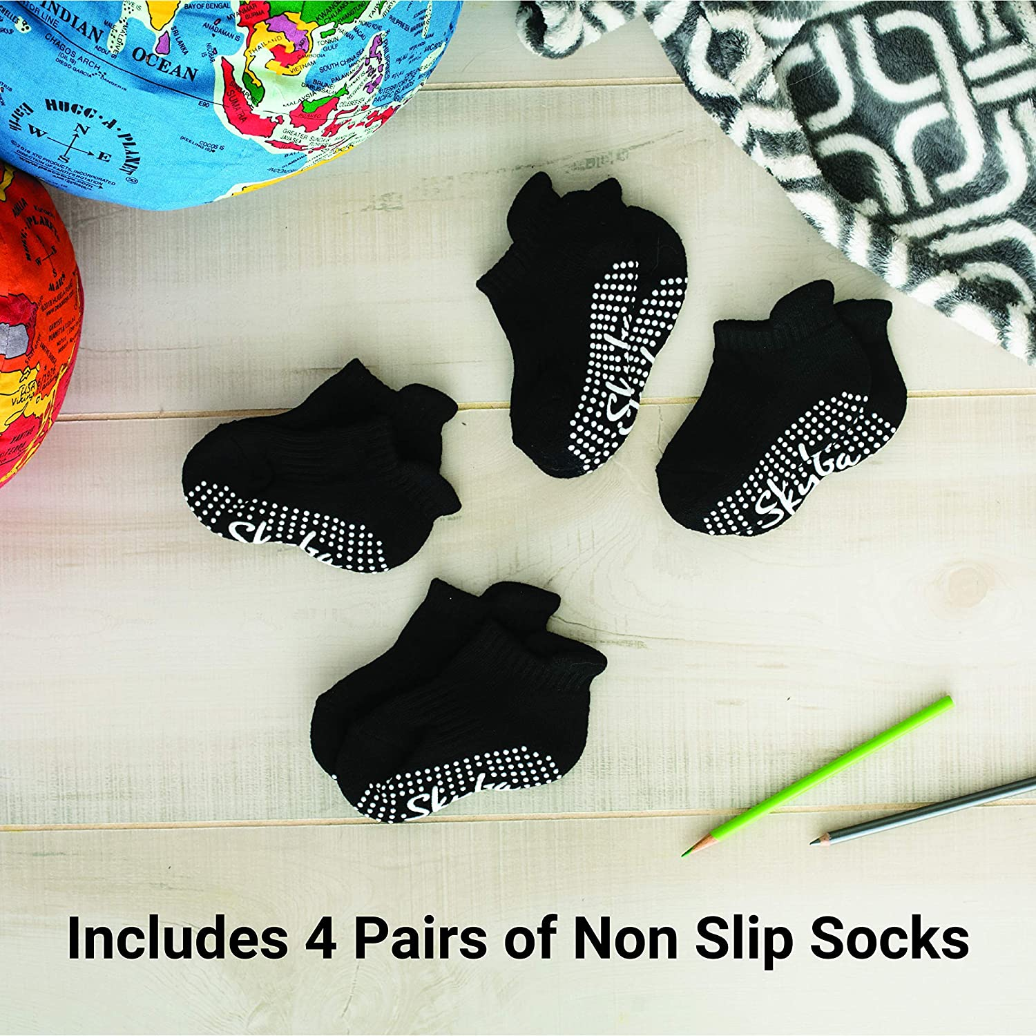 Kids Children, Skyba Non Slip Socks Anti Skid Grip for