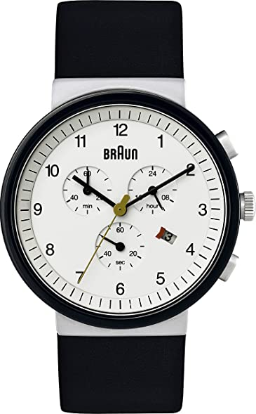 Braun herren armbanduhr xl bn0035whbkg chronograph leder