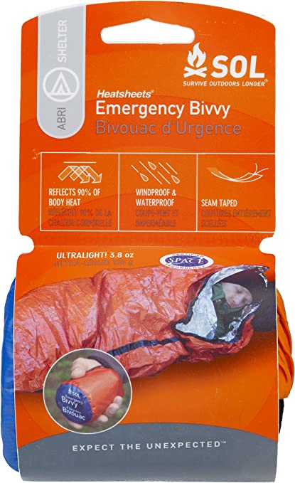 Emergency Thermal Mylar Urgence Survie Couverture First-Aid Prep Kit Aluminium Look