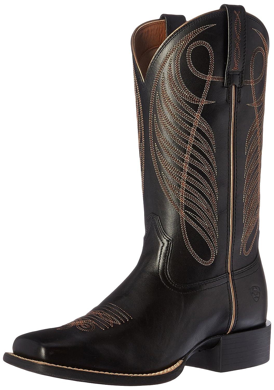 Ariat Women's Round up Wide Square Toe Western Cowboy Boot B01BQT5XM8 6 B(M) US Limousine Black