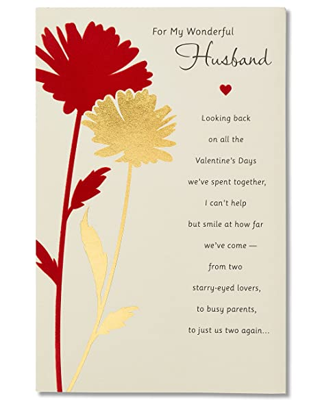 Amazon american greetings wonderful husband sentimental american greetings wonderful husband sentimental valentines day card for husband with foil m4hsunfo Gallery