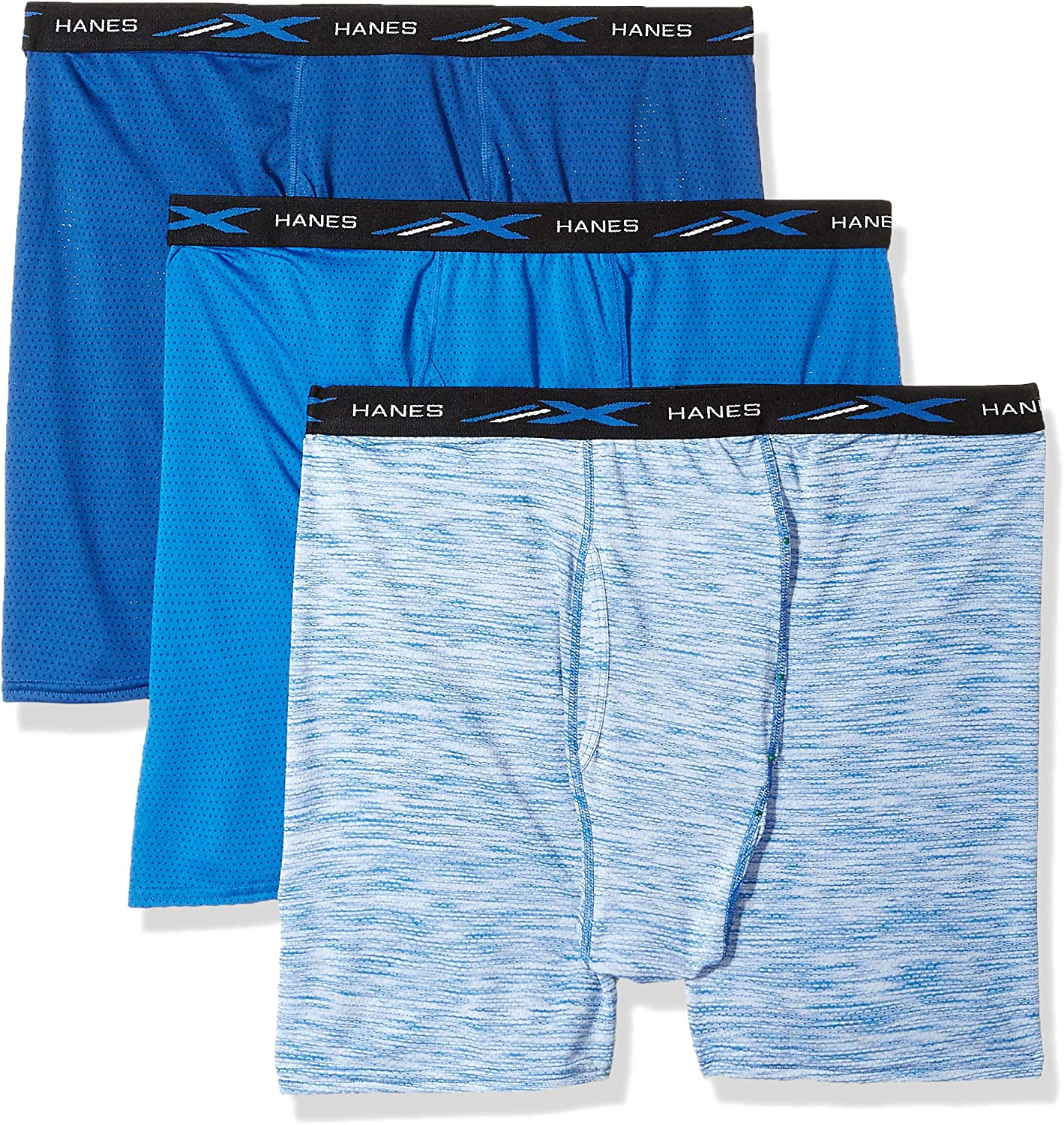 Hanes Mens X-Temp Lightweight Mesh Space Dye Boxer Brief 4-Pack assorted colors mat vary