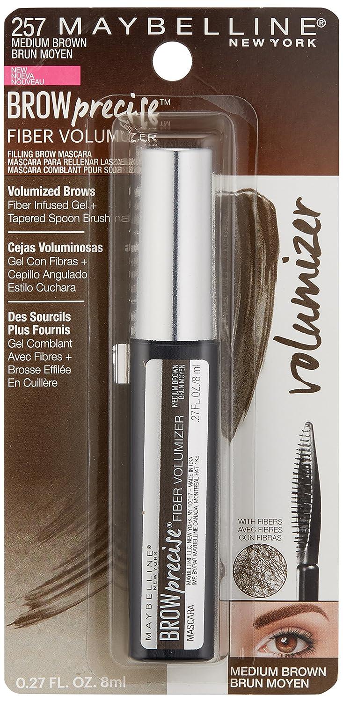 fe6fe393a32 Amazon.com : Maybelline New York Brow Precise Fiber Volumizer Eyebrow  Mascara, Soft Brown, 0.27 fl. oz. : Beauty