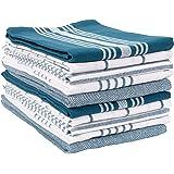 KAF Home Soho Kitchen Dish Towel Set of 10   18 x 28 Inch Tea Towels   Soft and Absorbent Mixed Set of Flat Towels (Teal)