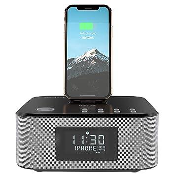 best service 9c281 34460 AZATOM Homehub Clock RADIO with Lightning Dock Alarm 30W Bluetooth for  iPhone X, 8, 8 plus, 7plus, 7, 6s, 6, 5s, 5, SE Nano 7G, Touch 6G 5G , iPad  ...