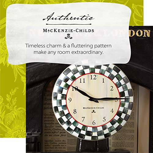 MacKenzie-Childs Courtly Check Enamel Wall-Hanging Clock