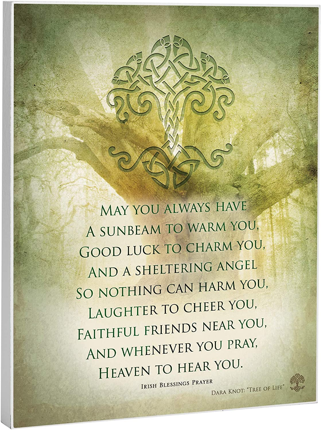 Elanze Designs Irish Prayer 8 x 10 Wood Print Overlay Wall Art Sign Plaque