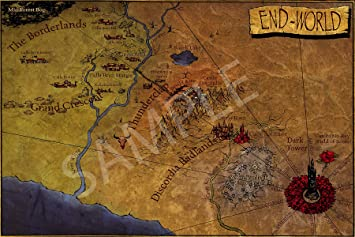 Amazon best print store gunslinger vintage the end world map best print store gunslinger vintage the end world map poster 11x17 inches gumiabroncs Image collections