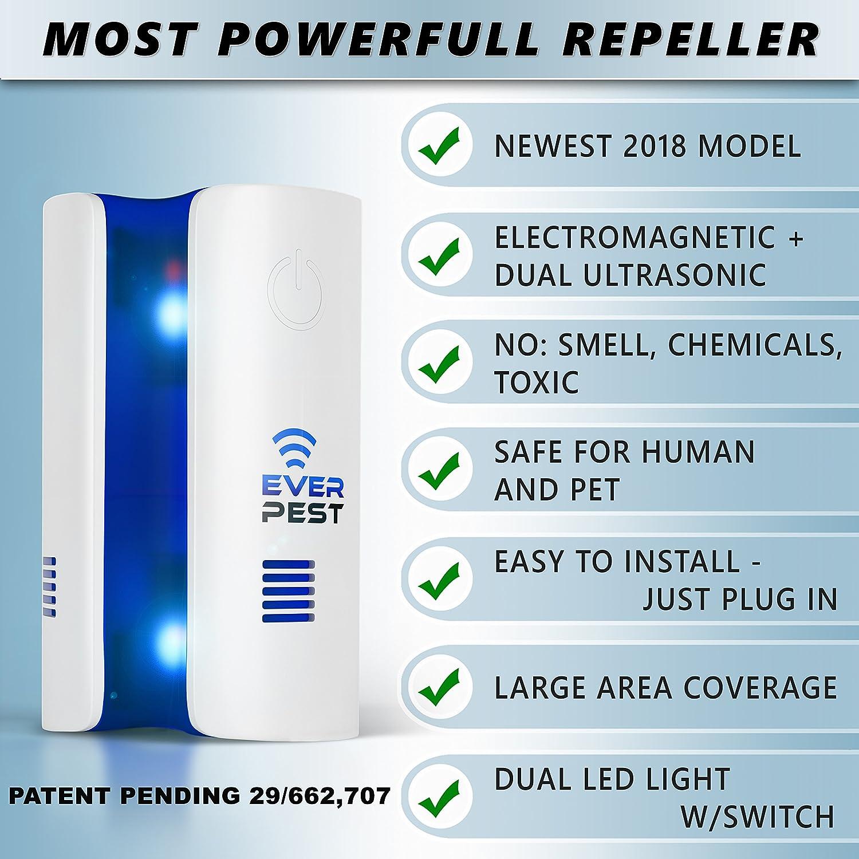 Ever Pest Ultrasonic Electromagnetic Repellent Mosquito Circuitbest Repellentindoor Control 2018 Plug In Home Indoor And Outdoor Repeller Get Rid Of Ant Flea