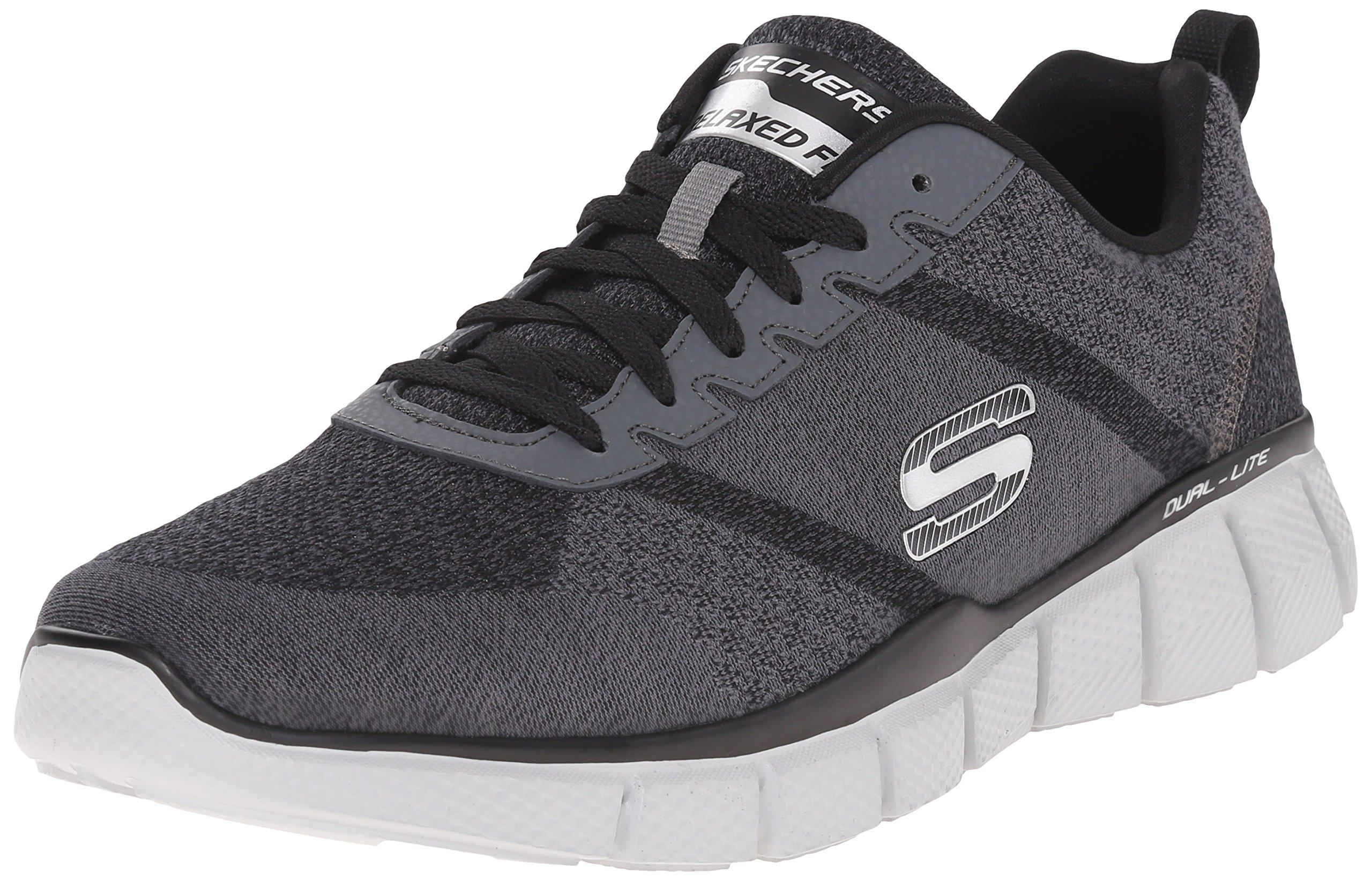 Skechers Sport Men's Equalizer 2.0 True Balance Sneaker,Grey/Black/Charcoal,10.5 4E US