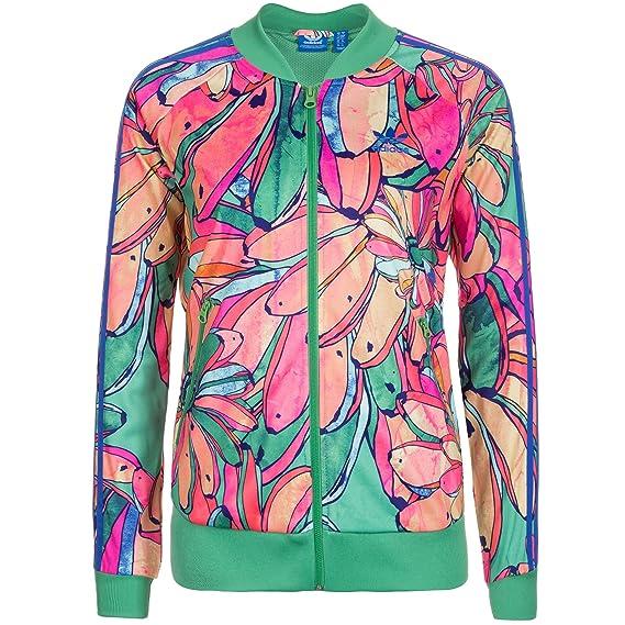 f879785f3c1 Adidas Originals x Granja Bananas Supergirl aj8122 Tropical Track Chamarra  para Mujer