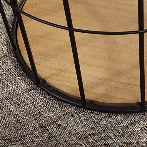 FirsTime Co. Arborfield Basket Storage Accent Table