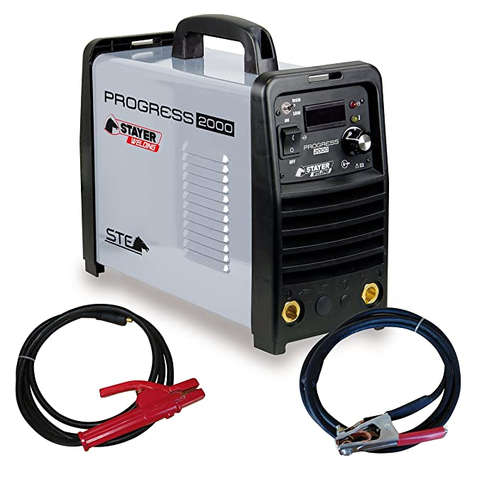 STAYER 1.893 - INVERTER MMA Soldadura por Electrodo PROGRESS 60% 200A 6mm 6kg KVA6 PROGRESS 2000: Amazon.es: Bricolaje y herramientas