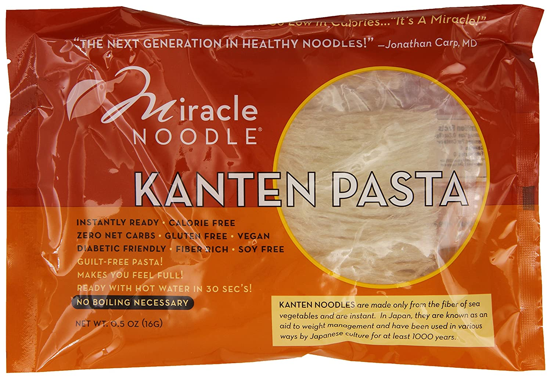 Miracle Noodle Kanten Zero Carb, Gluten Free Pasta, 0.5 Ounce