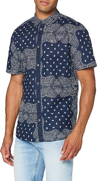 Tommy Hilfiger TJM Bandana Print Shirt Camisa para Hombre: Amazon.es: Ropa y accesorios