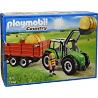 Playmobil Large Tractor with Trailer Playset Toy