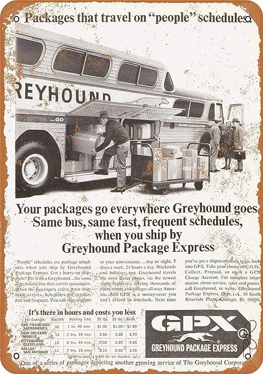 "GREYHOUND BUS 9/"" x 12/"" Sign"
