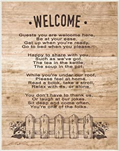 Stupell Industries Guests Are Welcome Here Wall Plaque, 10 x 15, Multi-Color